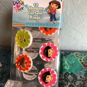 Nickelodeon Dora Shower Curtain Hooks